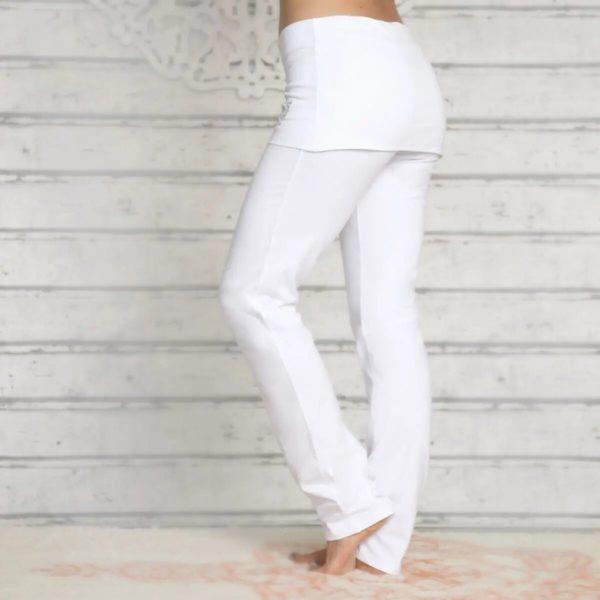 Yogahose mit Rockbund weiß 3