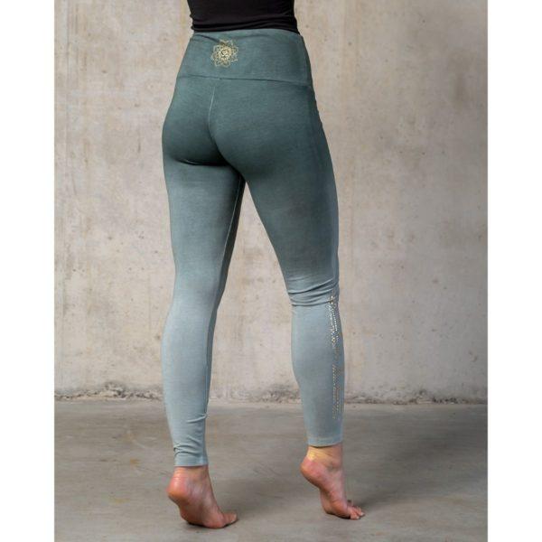 Yoga-Leggings lang green/smaragd, Damen, Größe XS | S | M | L 2