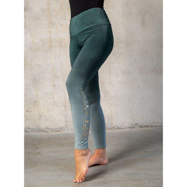 Yoga-Leggings lang green/smaragd, Damen, Größe XS | S | M | L 1
