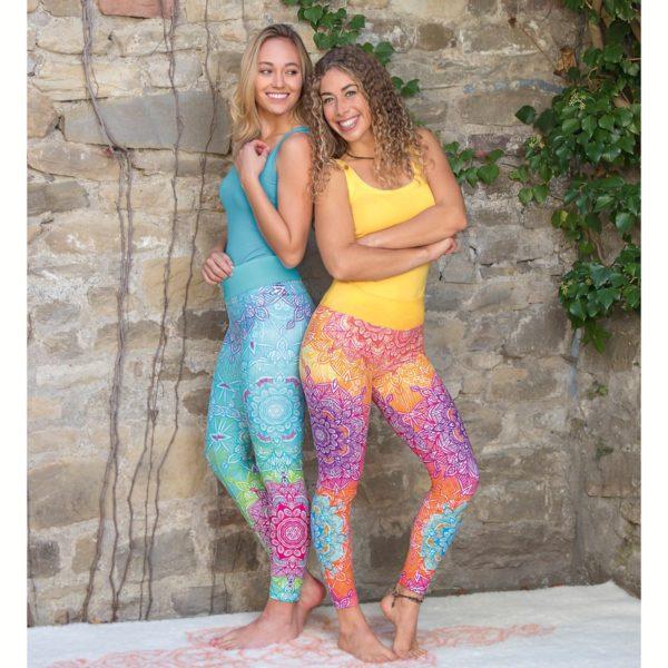 Yoga-Leggings karibik-blue, Größe S, Damen 3