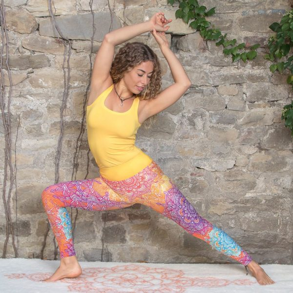 Yoga-Leggings rainbow, Größe S, Damen 1