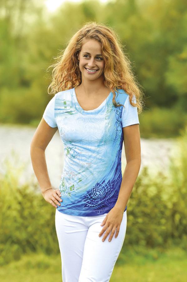 Shirt Blaue Lagune Größe S 2