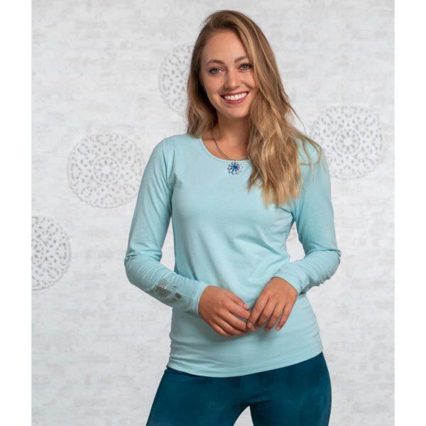 Langarm-Shirt Bambus Größe XS | S | L, Blue-Breeze 1