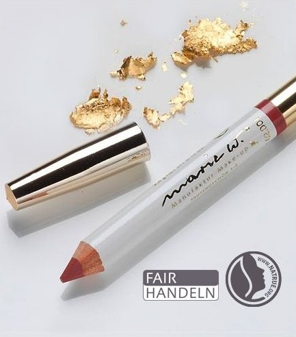 Natur Lippenstift Rot 2-3 mit echtem Gold 1