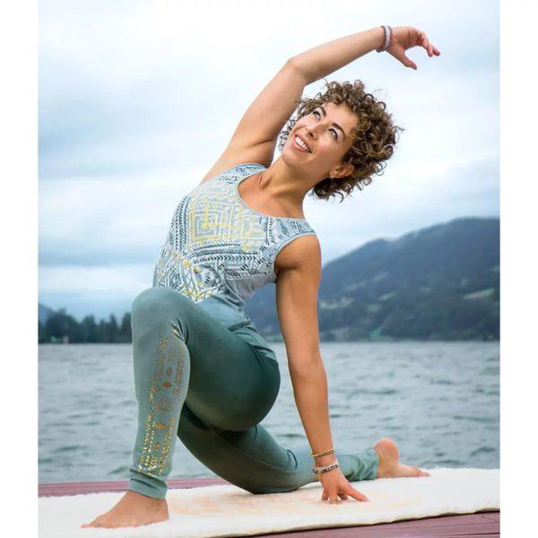Yoga-Top - Bakti - green/smaragd, Größe XS 1