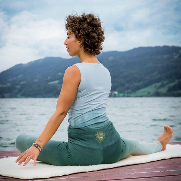 Yoga-Leggings lang green/smaragd, Damen, Größe XS | S | M | L 3
