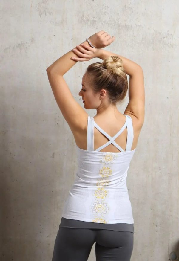 Yogatop white/silver/sun, Größe S 2