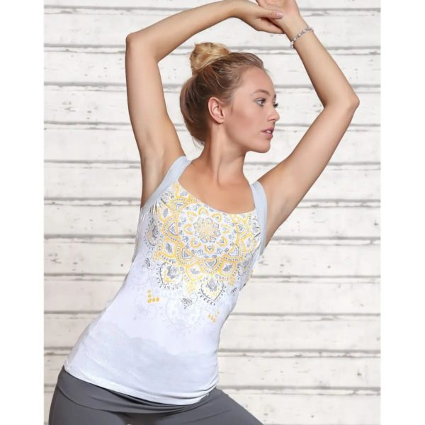 Yogatop white/silver/sun, Größe S 1