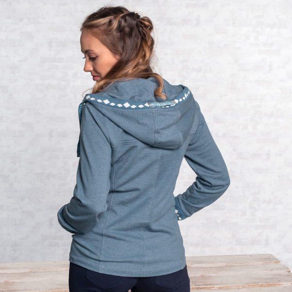 Damen Sweatjacke, Größe S   M Jeansblau 3