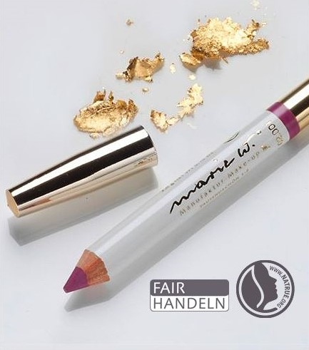 Natur Lippenstift Rosé 2-3 mit echtem Gold 1