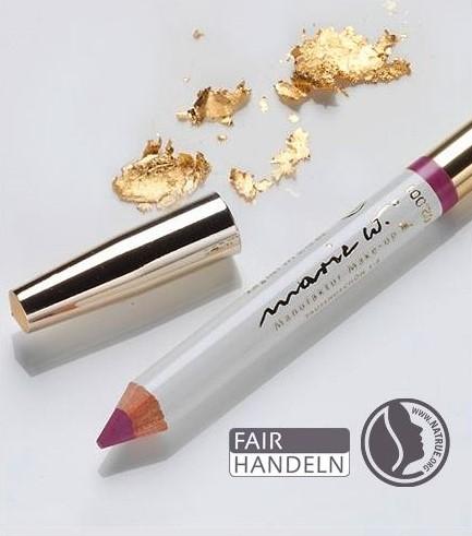 Natur Lippenstift Rosé 2-3 mit echtem Gold