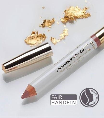 Natur Lippenstift Braun 1-2 mit echtem Gold 1