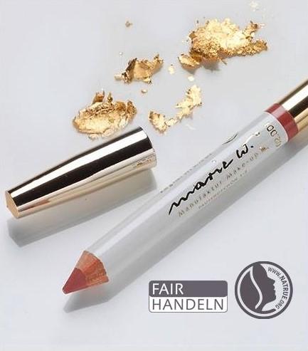 Natur Lippenstift Tausendschön 1-3 mit echtem Gold 1