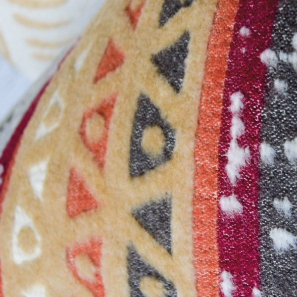 Plaid-Decke, beige-grey-red 3