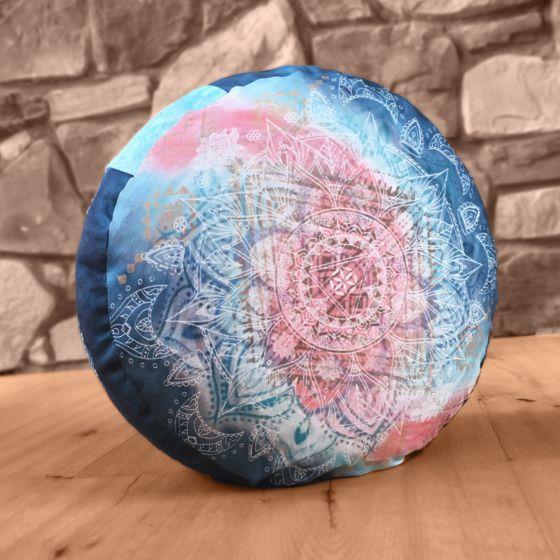 Meditationskissen rund indigo/peach