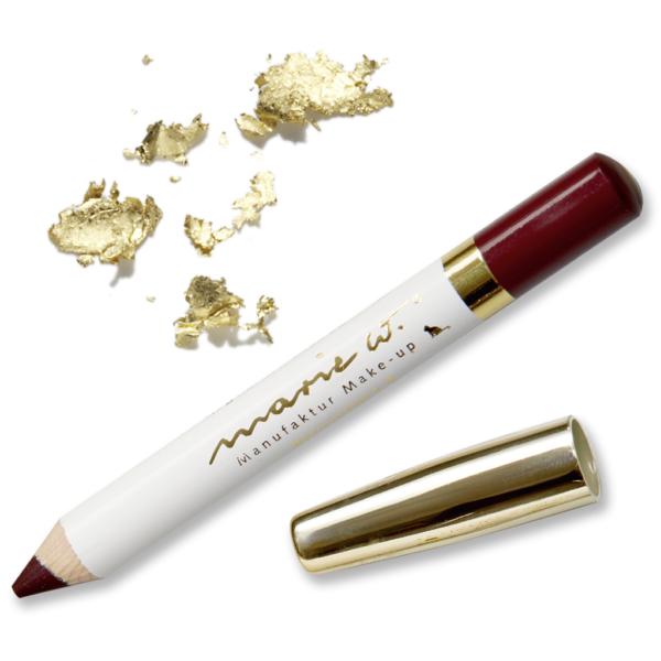 Neu marie w. Natur Lippenstift mit echtem Gold 1