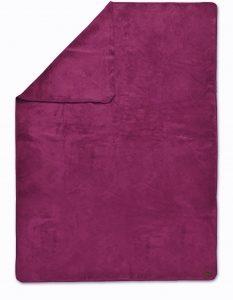 Biophotonen-Kuscheldecke UNIFARBEN brombeer 200 cm x 150 cm