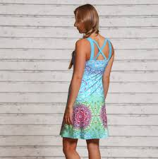 Sommerkleid, karibik blue Größe L
