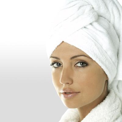 Haar-Turban Carenesse Weiß 1