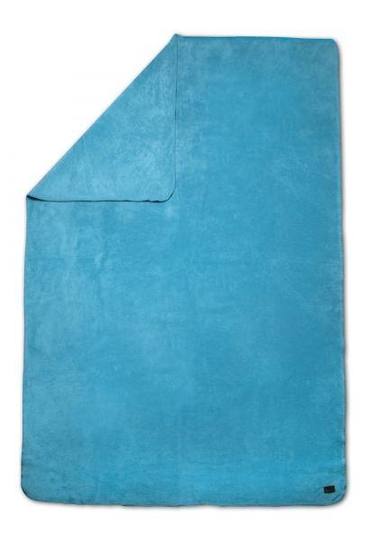 Biophotonen-Kuscheldecke UNIFARBEN türkis 200 cm x 150 cm 1