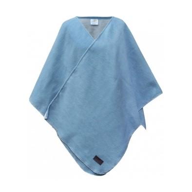 Biophotonen-Poncho, blau/schnee 120 x 130 cm 1
