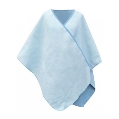 Biophotonen-Poncho, blau/schnee 120 x 130 cm 3