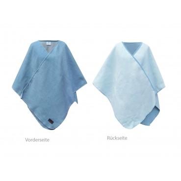 Biophotonen-Poncho, blau/schnee 120 x 130 cm 2