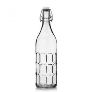 Biophotonen-Glasflasche 1,0 Liter Rastermuster