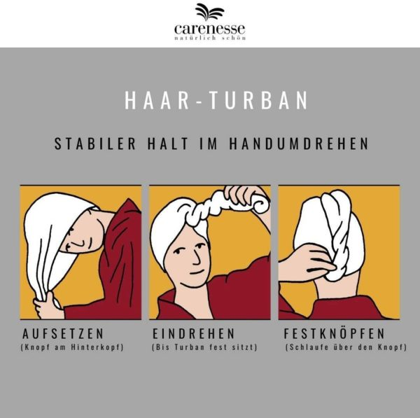 Haar-Turban Carenesse Weiß 2
