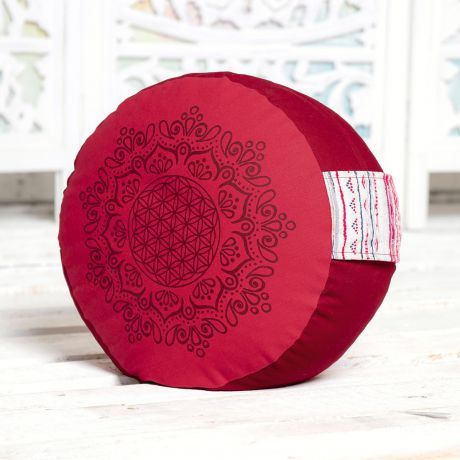 Meditationskissen hibiskus / rot 1